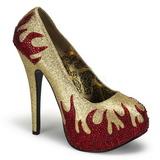 Kultaiset Kimaltelevia Kiviä 14,5 cm Burlesque TEEZE-27 naisten kengät korkeat korko