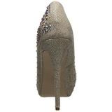 Kultaiset Kristalli 13 cm DESTINY-06R Platform Avokkaat Kengät