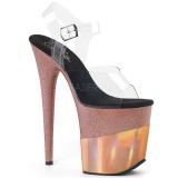 Kupari 20 cm FLAMINGO-808-2HGM kimallus platform sandaalit naisten
