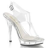 Läpinäkyvä 13 cm LIP-107 naisten kengät korkeat korko