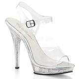 Läpinäkyvä 13 cm LIP-108MG naisten kengät korkeat korko