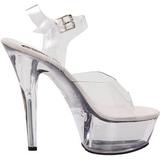 Läpinäkyvä 15 cm BROOK-208 naisten kengät korkeat korko
