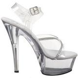 Läpinäkyvä 15 cm KISS-208R naisten kengät korkeat korko