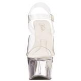 Läpinäkyvä 18 cm TREASURE-708 strippari kengät tankotanssi sandaletit