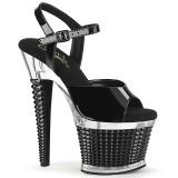 Läpinäkyvät sandaalit 18 cm SPECTATOR-709 korolliset sandaalit platform