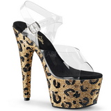 Leopardi 18 cm BEJEWELED-708LP Kimaltelevia Kiviä naisten kengät korkeat korko