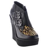 Leopardi Keinonahka CREEPER-306 creepers kengät kiilakorot
