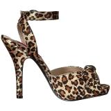 Leopardi Satiini 12,5 cm EVE-01 suuret koot sandaalit naisten