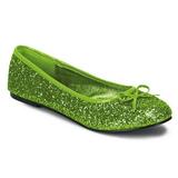 Limenvihreä STAR-16G kimallus ballerina kengät naisten matalat