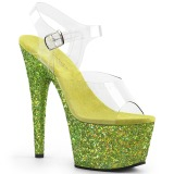 Limenvihreä kimalle 18 cm Pleaser ADORE-708LG tankotanssi kengät