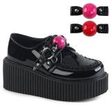 Mokkanahka 5 cm CREEPER-222 naisten creepers kengät paksut pohjat