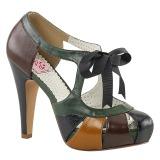 Monivärinen 11,5 cm retro vintage BETTIE-19 naisten kengät korkeat korko