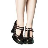 Musta 10,5 cm CRYPTO-06 Mary Jane Avokkaat Kengät