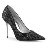 Musta 10 cm APPEAL-20G matala stilettikorko kengät - matalakorkoiset avokkaat