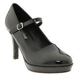 Musta 10 cm CONTESSA-50 Mary Jane Avokkaat Kengät
