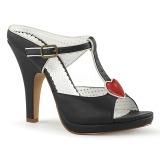 Musta 10 cm SIREN-09 Korkeakorkoiset Muulit Kengät