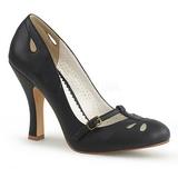 Musta 10 cm SMITTEN-20 Pinup avokkaat kengät alhainen korot