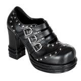 Musta 10 cm VAMPIRE-08 lolita kengät gootti platform kengät paksut pohjat
