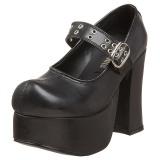 Musta 11,5 cm CHARADE-05 lolita gootti kengät