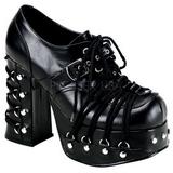 Musta 11,5 cm CHARADE-35 lolita gootti kengät