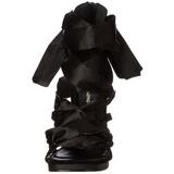 Musta 11,5 cm CHIC-26 Korkeat Piikkikorot Kenkiä