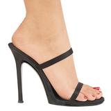 Musta 11,5 cm Fabulicious GALA-02 Korkeakorkoiset Muulit Kengät