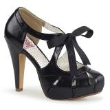 Musta 11,5 cm retro vintage BETTIE-19 naisten kengät korkeat korko