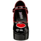 Musta 11 cm QUEEN-55 naisten kengät korkeat korko