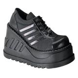 Musta 12,5 cm STOMP-08 lolita kengät gootti wedge kiilakorkonilkkurit