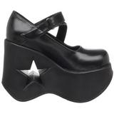 Musta 13,5 cm DYNAMITE-03 lolita kengät gootti wedge kiilakorkonilkkurit