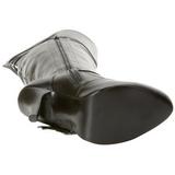 Musta 13 cm DIVA-3006X Leveyttä vasikat pitkävartiset saappaat