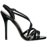 Musta 13 cm Pleaser AMUSE-13 naisten korkosandaalit
