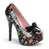 Musta 14,5 cm TEEZE-12-4 naisten kengät korkeat korko