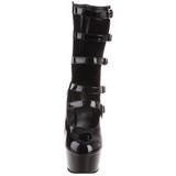 Musta 15,5 cm DELIGHT-1027 korokepohja nilkkurit korkeat korko