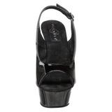 Musta 15 cm DELIGHT-654 naisten kengät korkeat korko