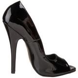 Musta 15 cm DOMINA-212 naisten kengät korkeat korko