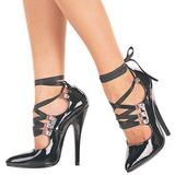 Musta 15 cm DOMINA-456 naisten kengät korkeat korko