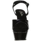 Musta 15 cm Pleaser KISS-209LS Korkosandaalit