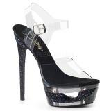 Musta 16,5 cm ECLIPSE-608GT sandaalit piikkikorko