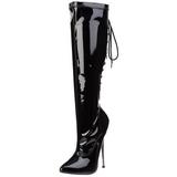 Musta 16 cm DAGGER-2064 naisten saappaat korkeat korko