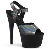Musta 18 cm ADORE-708N-DT Hologrammi platform korkokengät naisten