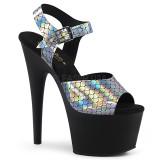 Musta 18 cm ADORE-708N-MS Glitter platform korkeakorkoiset sandaalit