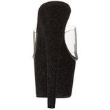 Musta 18 cm Pleaser ADORE-701SDG Glitter Platform Puukengät