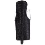 Musta 20 cm Pleaser FLAMINGO-801SDG Glitter Platform Puukengät
