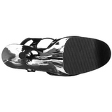Musta 25,5 cm Pleaser BEYOND-009 Kromi Platform Korkosandaalit