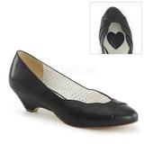 Musta 4 cm retro vintage LULU-05 Pinup avokkaat kengät alhainen korot