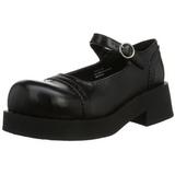 Musta 5 cm CRUX-07 lolita kengät gootti platform kengät paksut pohjat