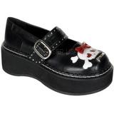 Musta 5 cm EMILY-221 lolita kengät gootti platform kengät paksut pohjat