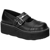 Musta 5 cm EMILY-306 lolita kengät gootti platform kengät paksut pohjat