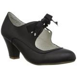 Musta 6,5 cm WIGGLE-32 Pinup avokkaat kengät paksu korko